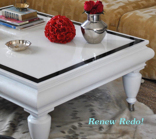 Tray Coffee Table Makeover: High Gloss Coffee Table Makeover