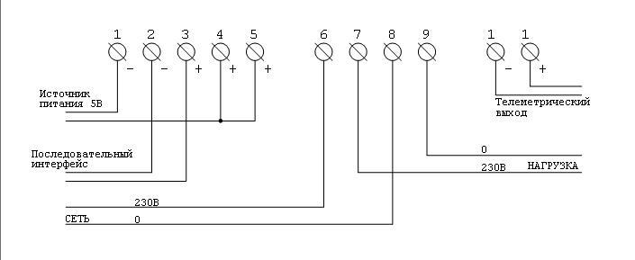 1) Схема подключения
