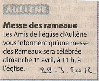 Messe des Rameaux 2012