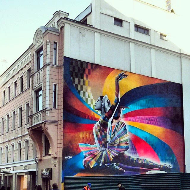 """The Dancer"" By Eduardo Kobra, a Street Art tribute to Maya Plisetskaya, one of the leading names in Russian ballet. 4"