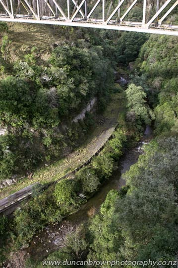 Back before big bridges, Ye Olde Road through the Matahorua Gorge, SH2 photograph