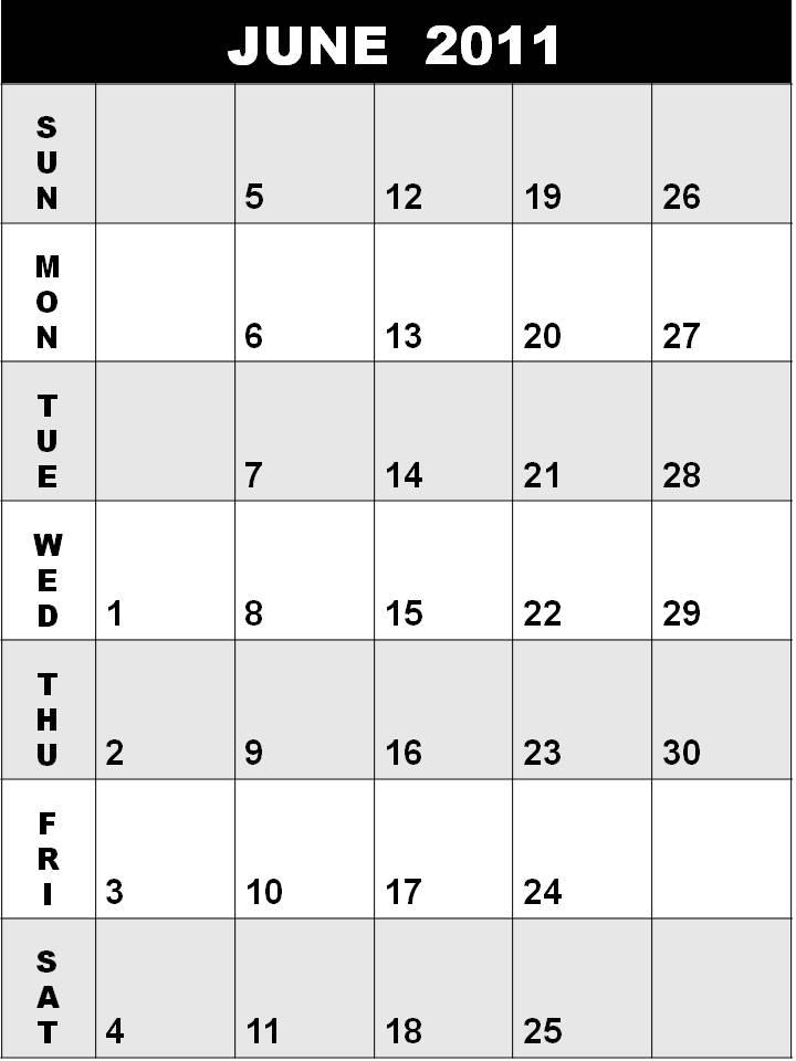 june calendar for 2011. blank june calendar 2011.