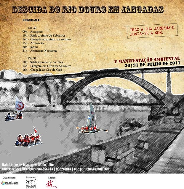 Descida do Douro em jangada - 30/31 Cartaz%2Bjangadas%2B