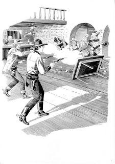 Ilustração de Fabio Civitelli para o livro Tex Willer - A história de minha vida
