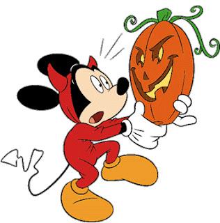 mickey mouse en halloween  dibujos halloween disney para imprimir