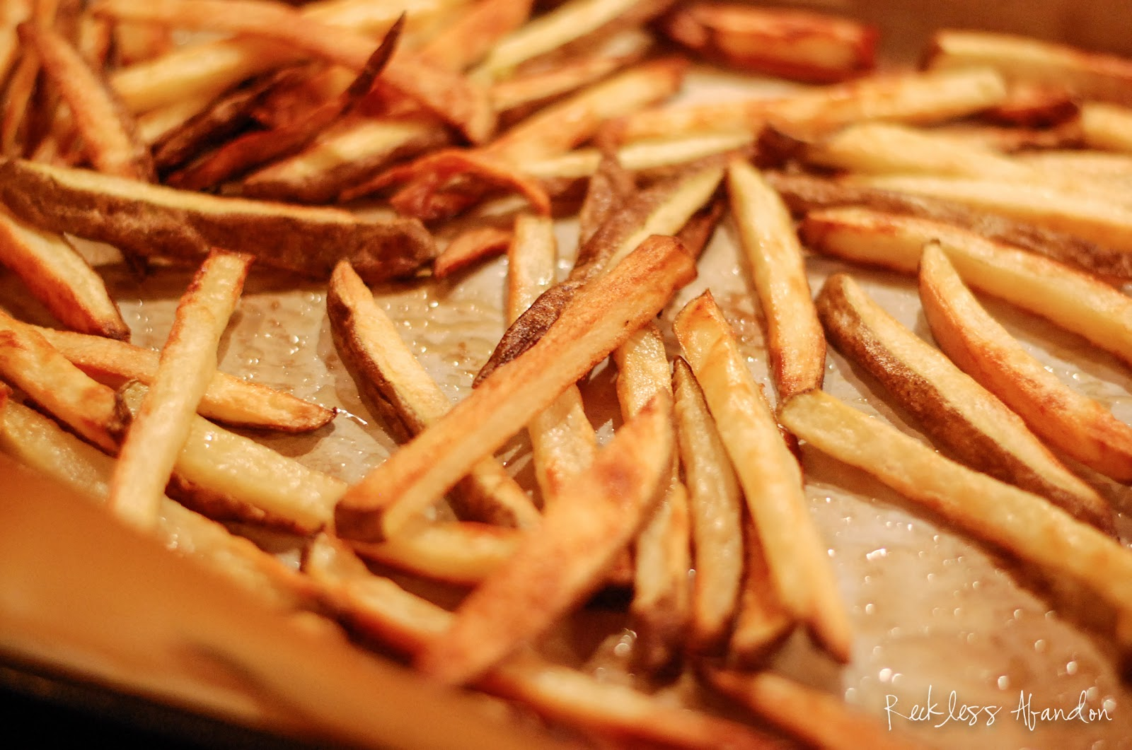 Reckless Abandon: Crispy Oven Baked French Fries