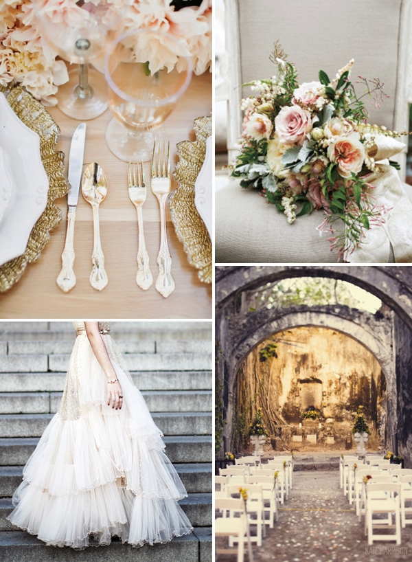 Blog mode, vetements fashion, fashion blog -gold, cream & peach wedding inspiration - 0