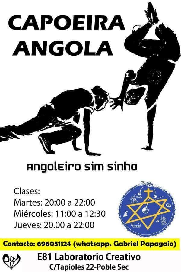 CAPOEIRA ANGOLA en el CENTRO DE BARCELONA - CCA Angoleiro Sim Sinhô