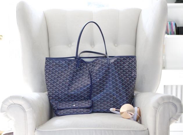 Goyard St.Louis Tote Bag Blue