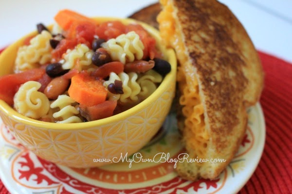Zesty Italian Tomato Soup and Macaroni and Cheese Grilled Cheese. Budget friendly meals with KRAFT on MyOwnBlogReview.com #shop