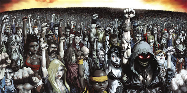 ten thousand fists in the air