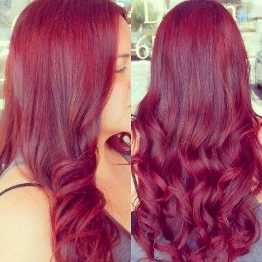 Popular Violet Red Hair Color Ideas 2014