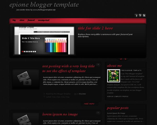 Epione Blogger Template