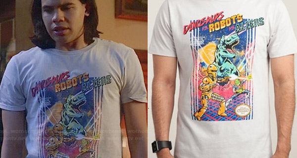Camisetas Cisco Ramón en The Flash : Dinosaurios