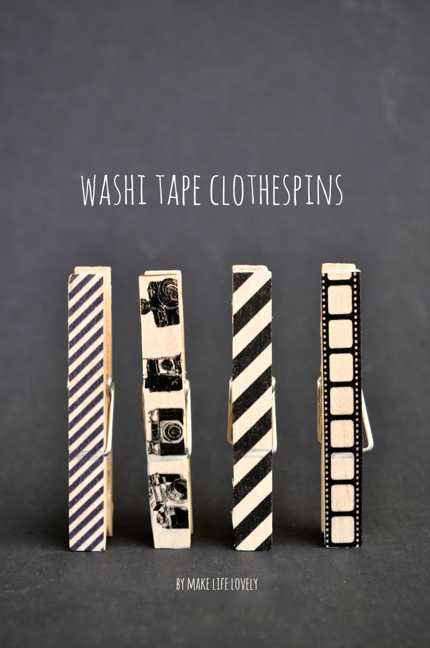 Washi Tape Clothespins Tutorial