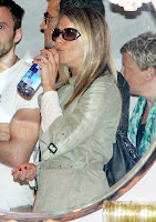 Jennifer Aniston drinking water