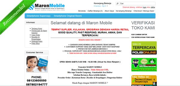 Supercopyreplika.com Maron Mobile Murah Aman Terpercaya