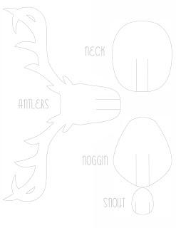 Schablone 2 für das falsche Elchgeweih zum Selberbasteln