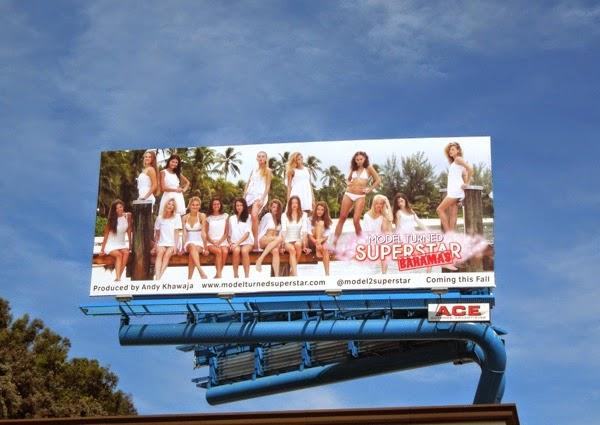 Model Turned Superstar Bahamas billboard
