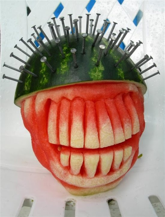 On gers spectacular and scary watermelon art