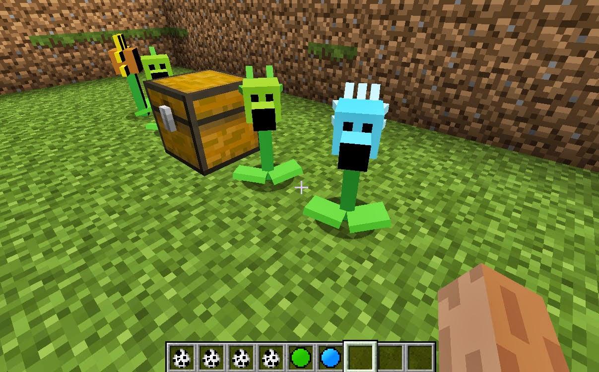 Minecrart mods minecraft plants vs zombies mod 1 6 2 1 5 2 - Minecraft zombie vs creeper ...