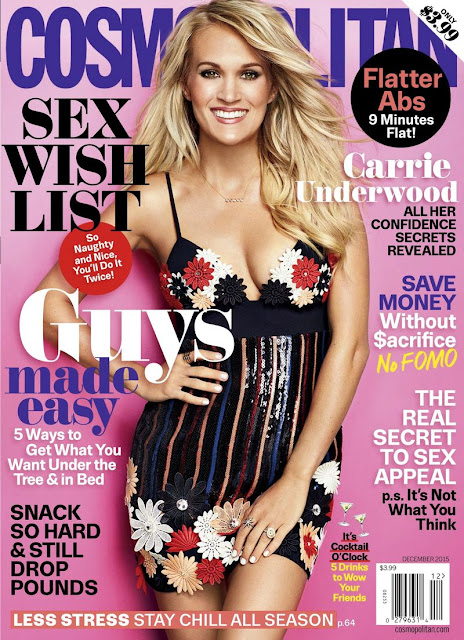 Actress, Singer, Reality TV, American Idol @ Carrie Underwood - Cosmopolitan Magazine December 2015