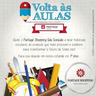 Partage Shopping São Gonçalo promove ação social de volta às aulas