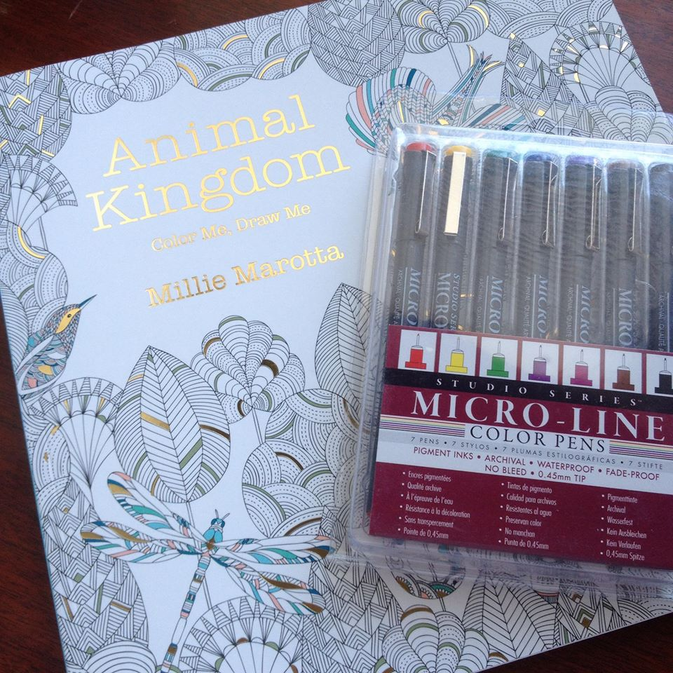 Color me draw me animal kingdom book - Coloring For Adults And Kids Is All The Rage And North Texas M A D E Is Giving Away A Copy Of Animal Kingdom Color Me Draw Me By Millie Marotta Along With