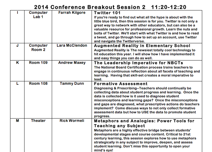 alnbctnetwork our breakout sessions 2014 updated