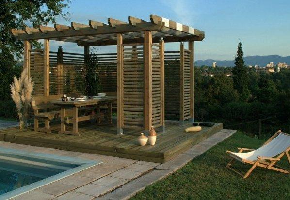 moderne pavillon fotos laube foto. Black Bedroom Furniture Sets. Home Design Ideas