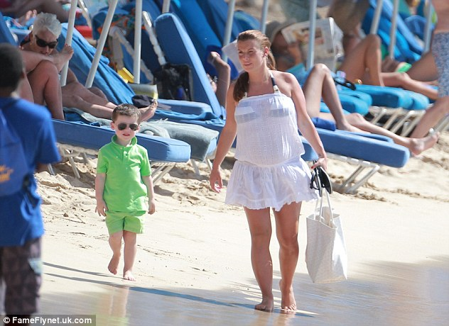 Coleen Rooney beach bikini cover up