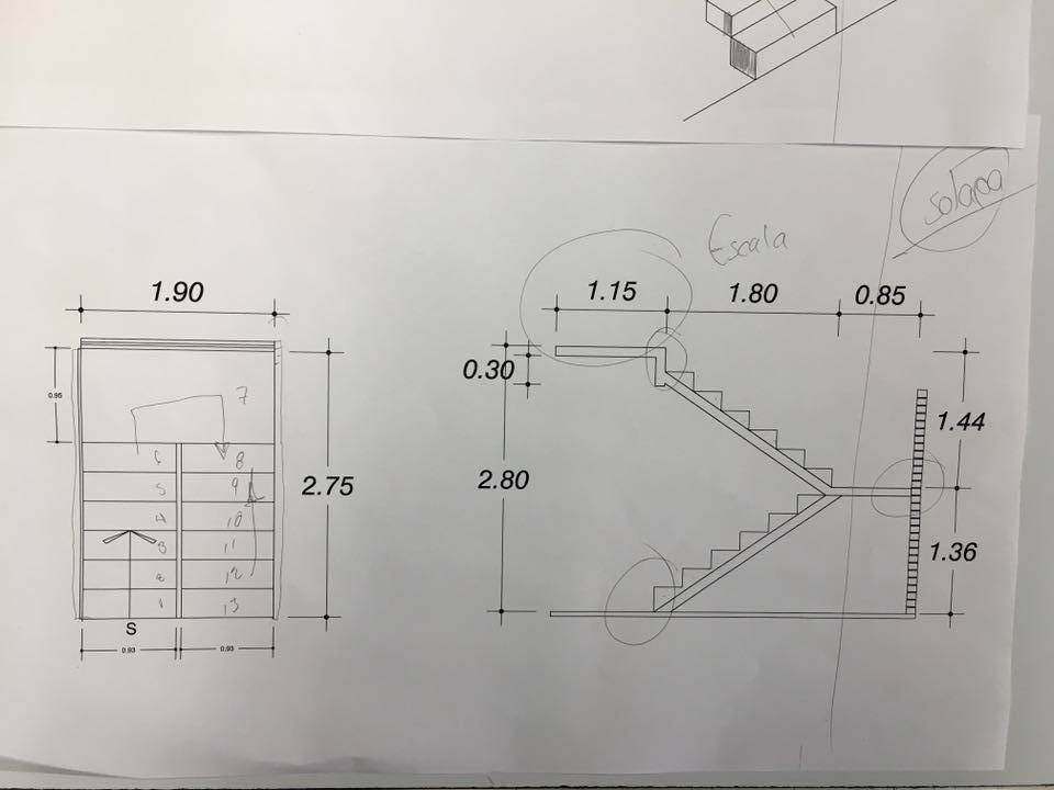 Elementos complementarios de la edificaci n noviembre 2015 for Escaleras en planta
