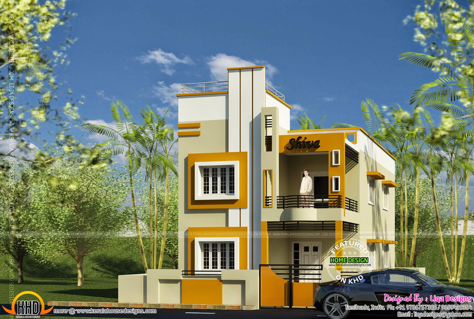 1659 sq ft 4 bedroom house kerala home design and floor for House design in small area