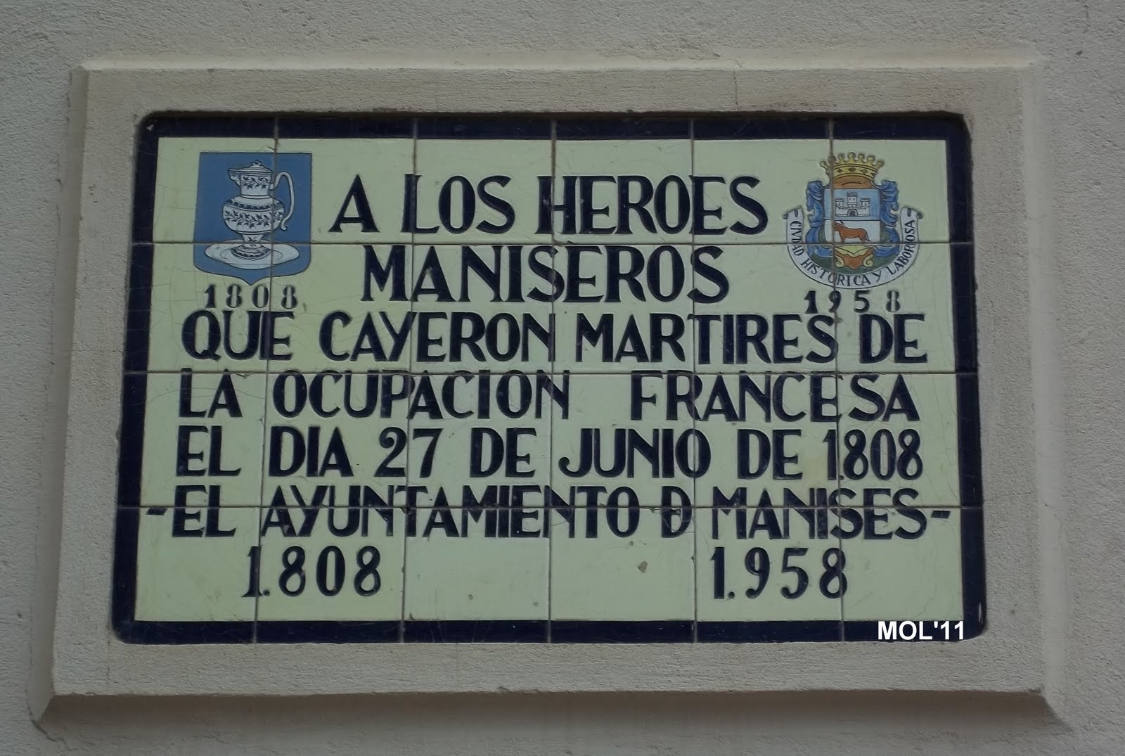 27.06.2017 GUERRA DE LA IN- DEPENDENCIA EN MANISES, EL 27 DE JUNIO DE 1808.