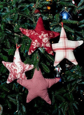 Fabric star ornaments 2