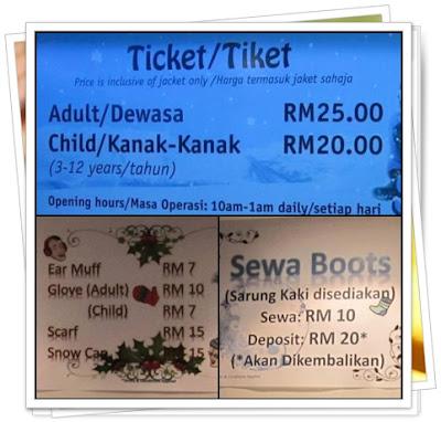 ini dia harga tiket masuk ke snowalk iCity Shah Alam