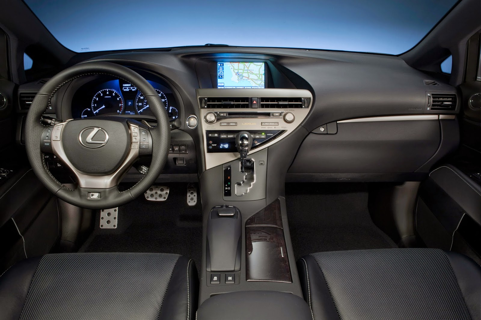 Interior view of 2014 Lexus RX 350 F-Sport