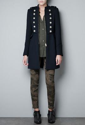 chaqueta militar mujer Zara