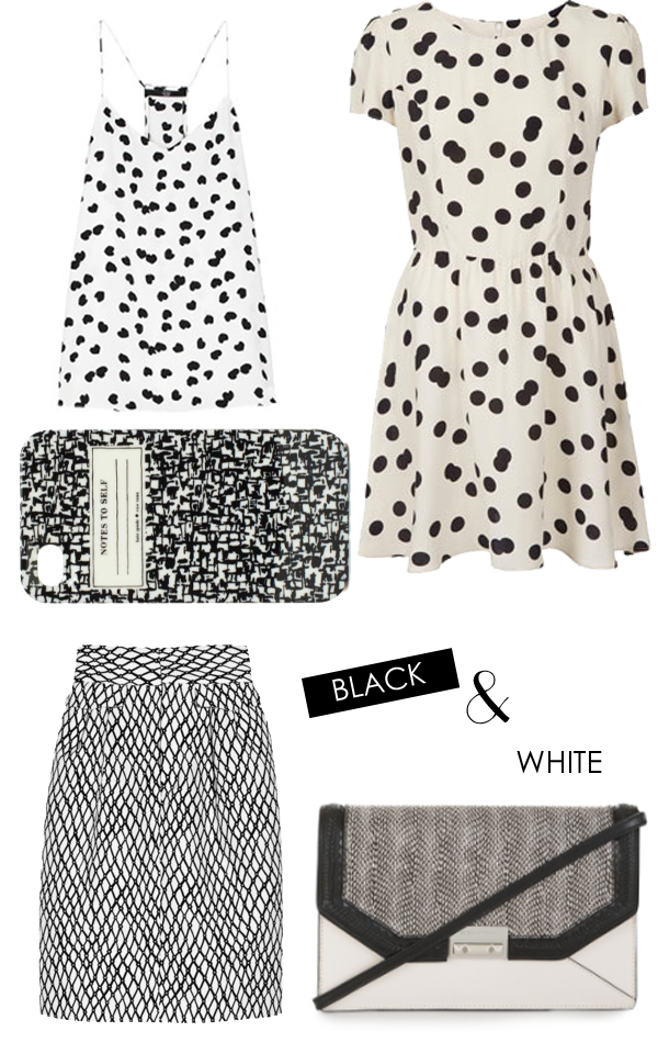 black and white accessories, polka dots, iphone case