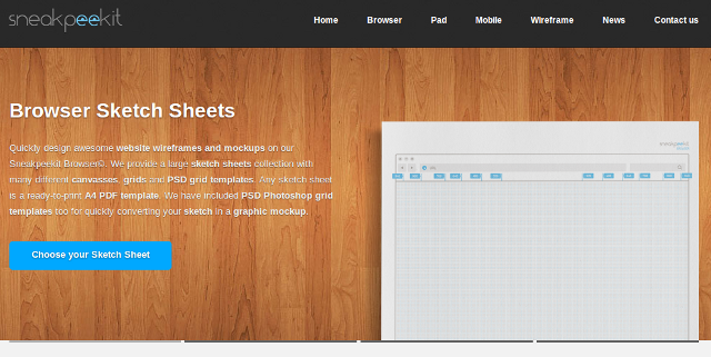 Sketchsheets for Responsive Web Design