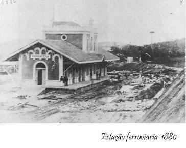 ESTAÇAO FERROVIARIA EM 1880