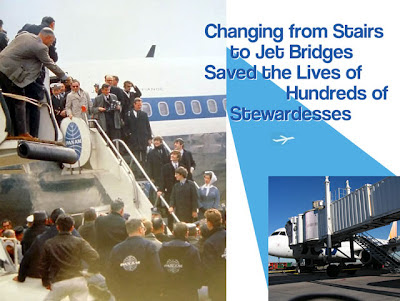 save a stewardess, use a jet bridge