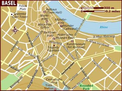 Mappa della città di Basilea