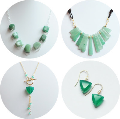 green jewelry for spring and St. Patrick's Day from The Bauble Dept.