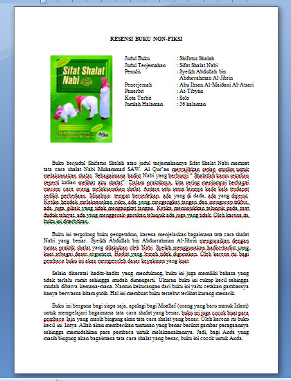 contoh resensi buku dan novel terbaru