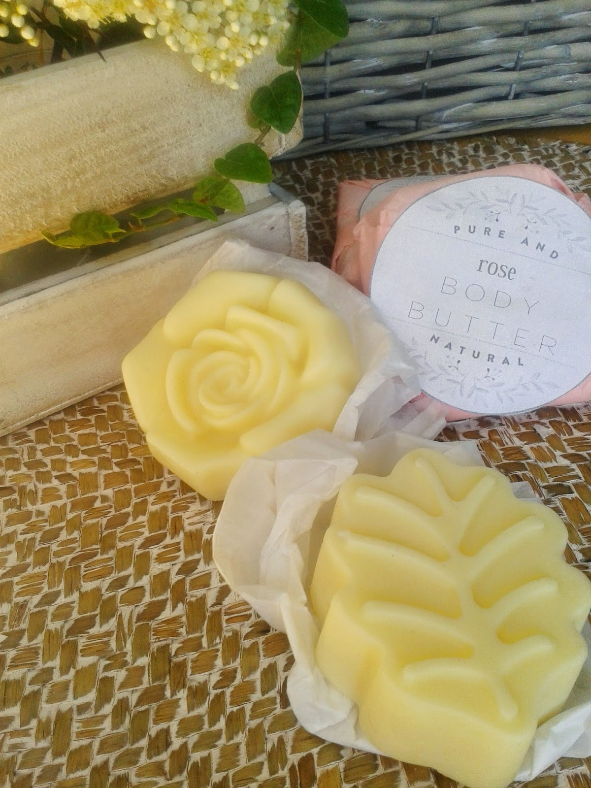 lavender and rose lotion bars