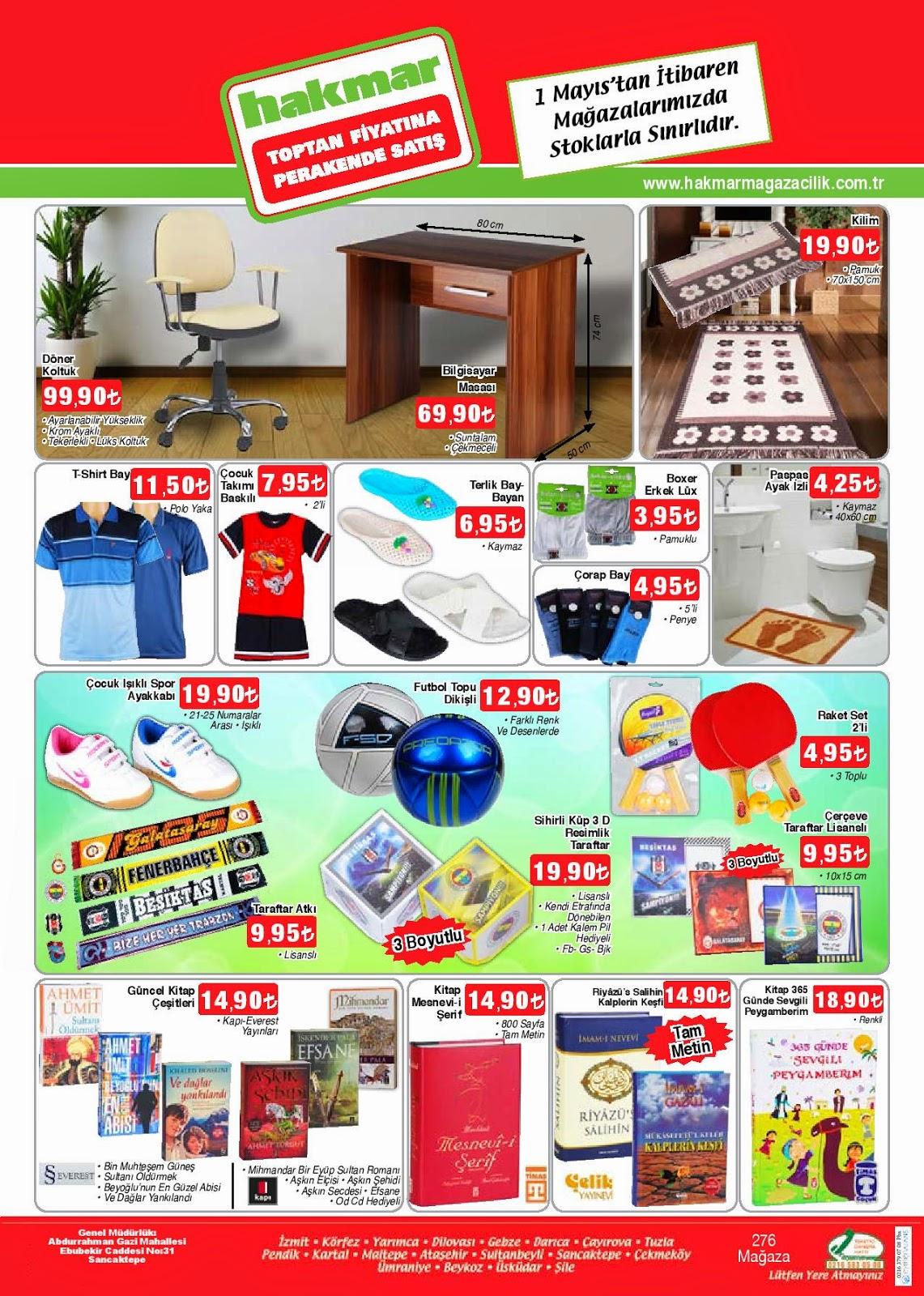 Hakmar 1 Mayıs 2014 tarihlerindeki Güncel Broşür,İndirim Katalog 1Mayıs.2014 tarihinden itibaren mağazalarımızda stoklarla sınırlıdır.