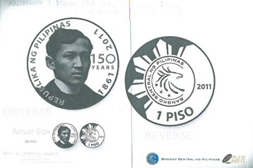 new p1 coin Rizal