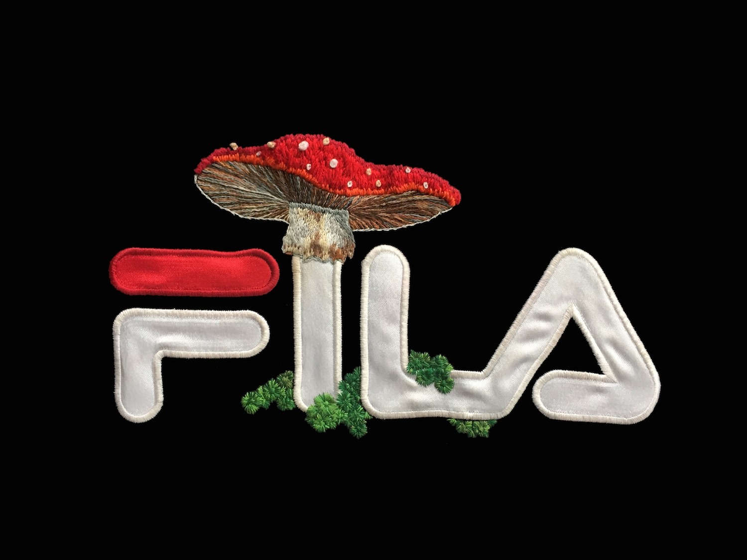 SOURCE:Artist James Merry Embellishes Sportswear Logos with Embroidered  Plants