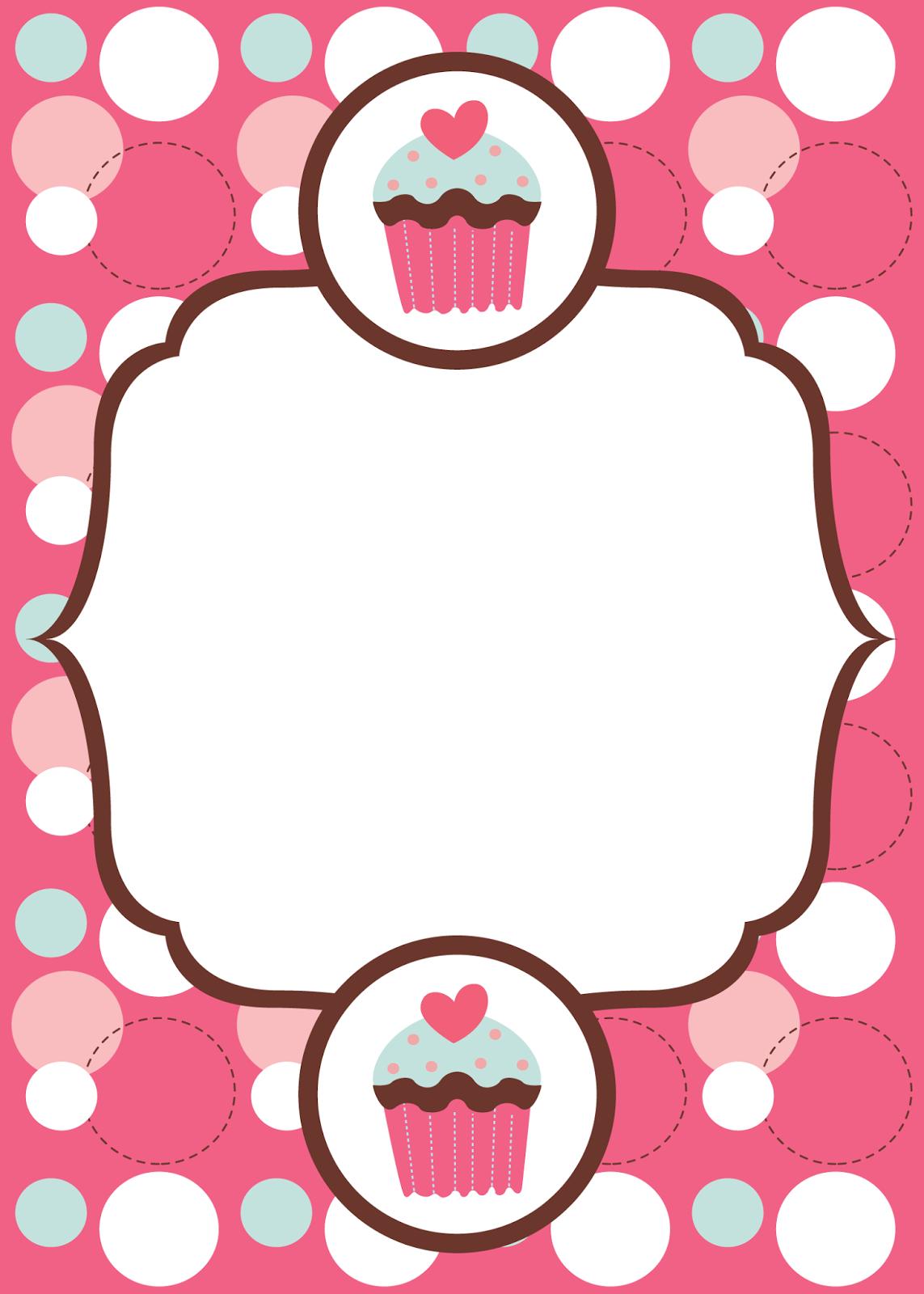 Help Festas e Personalizados: Convites prontos - Cupcake